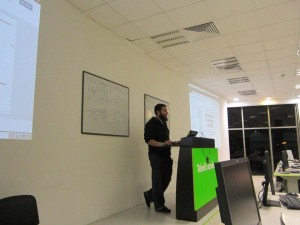 Mario Peshev opening WordPress Meetup