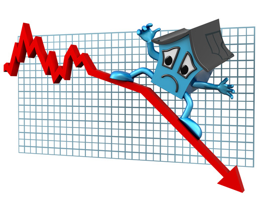 House prices down