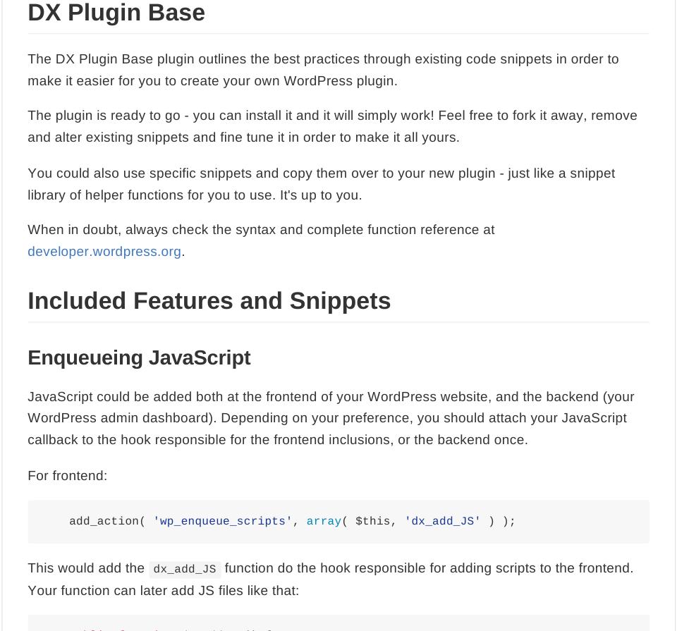 DX Plugin Base Docs