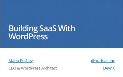 Talking SaaS at WordCamp Netherlands This Weekend