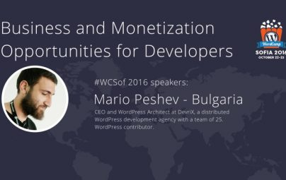 Let's Talk Business and Cash at WordCamp Sofia 2016