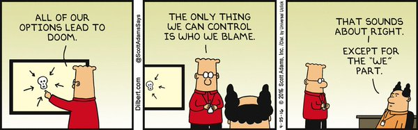 Options... Options everywhere. Image credit: http://dilbert.com/